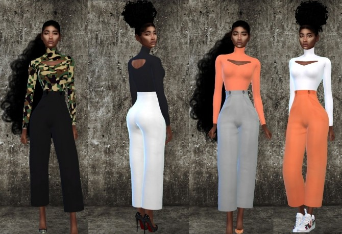 Helios Tapered Trouser and Cutout Top at Teenageeaglerunner image 931 670x459 Sims 4 Updates
