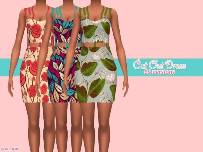 Sims 4 Cut out dress at Heartfall