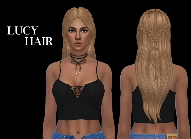 Sims 4 Lucy Hair at Leo Sims