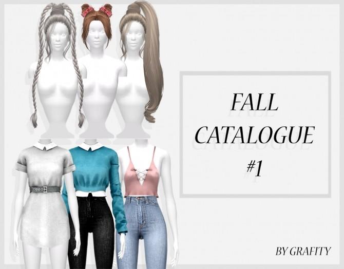 Sims 4 FALL CATALOGUE #1 at Grafity cc