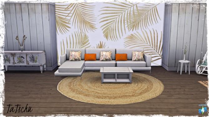 Sims 4 5 Tile Wall Mural/Decal   Golden Autumn Set Part 2 at TaTschu`s Sims4 CC