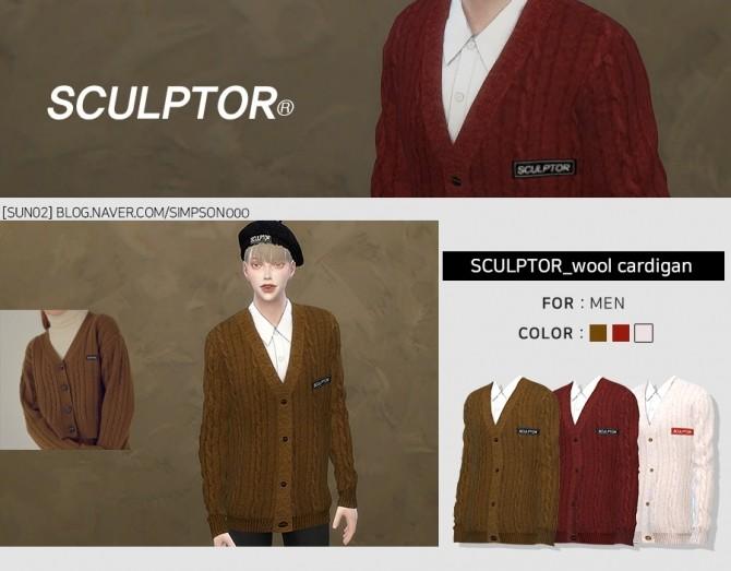 Sims 4 SCULPTOR Cardigan at SUN02