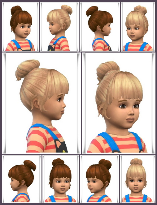 Sims 4 Little Bun Toddler hair at Birksches Sims Blog