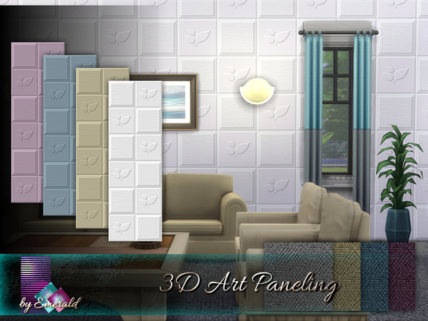 3D Art Paneling by emerald at TSR image 1019 Sims 4 Updates