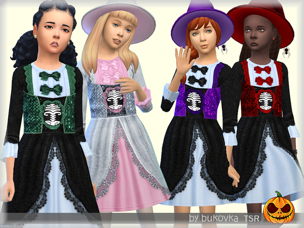 Sims 4 Dress Witch by bukovka at TSR