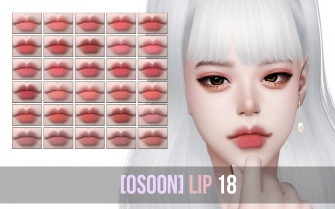 Sims 4 OS Lips 18 at Osoon