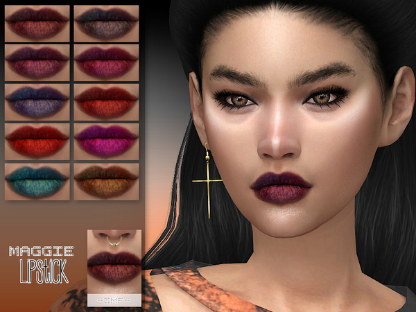Sims 4 IMF Maggie Lipstick N.121 by IzzieMcFire at TSR
