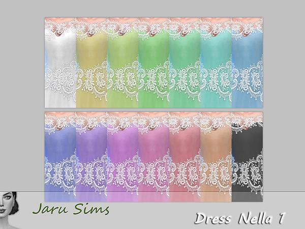Sims 4 Dress Nella 1 by Jaru Sims at TSR