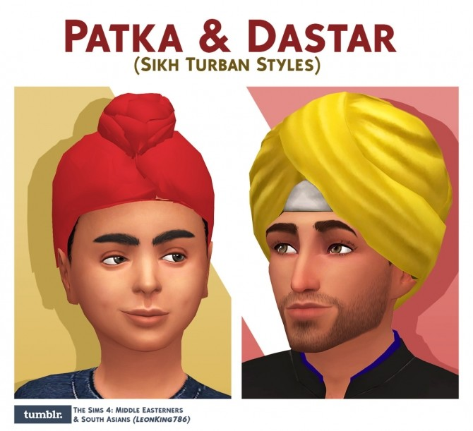 Sims 4 Patka & Dastar (Sikh Turban Styles) at The Sims 4 Middle Easterners & South Asians