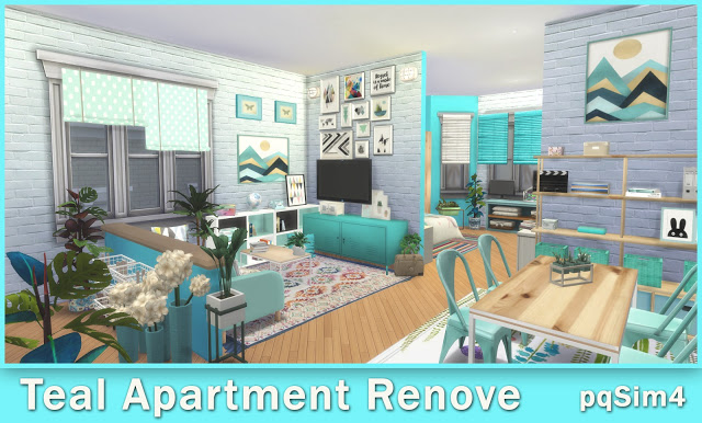 Teal Apartment Renove at pqSims4 image 10510 Sims 4 Updates