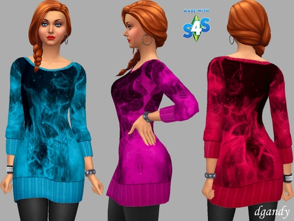Sims 4 Sweater Dress Fran by dgandy at TSR