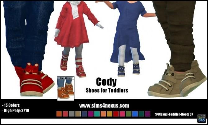 Sims 4 Cody shoes by SamanthaGump at Sims 4 Nexus
