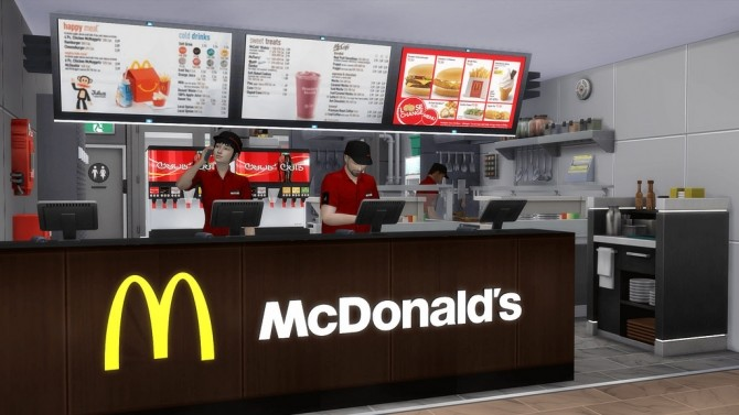 McDonald's Restaurant #4 by Ansett4Sims at RomerJon17 Productions image 1057 670x377 Sims 4 Updates