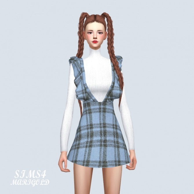 Sims 4 Ruffle Suspender Dress at Marigold