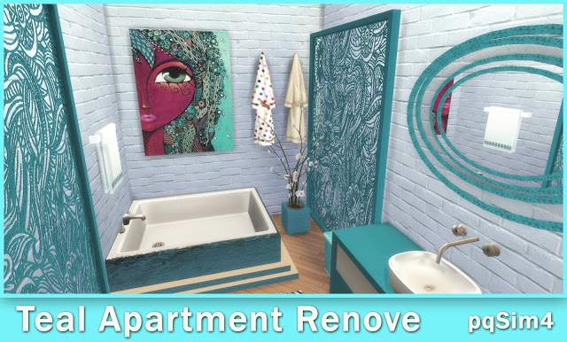 Teal Apartment Renove at pqSims4 image 1089 Sims 4 Updates