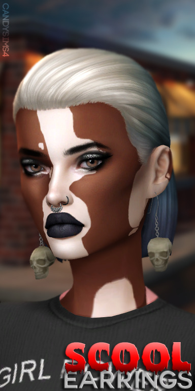 Sims 4 Scool earrings at Candy Sims 4