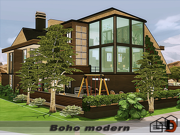 Sims 4 Boho modern home by Danuta720 at TSR