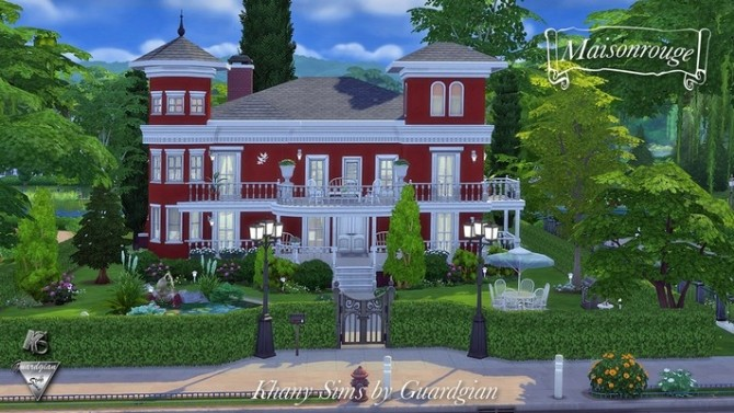 Sims 4 Red House by Guardgian at Khany Sims