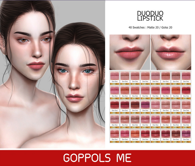 GPME GOLD DuoDuo Lipstick at GOPPOLS Me image 1101 Sims 4 Updates