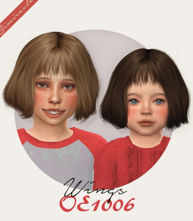 Sims 4 Wings OE1006 hair for kids and toddlers at Simiracle