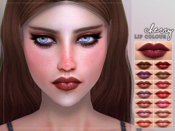 Cherry Lipstick by Screaming Mustard at TSR image 11017 Sims 4 Updates