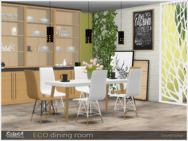 ECO dining room by Severinka at TSR image 11119 Sims 4 Updates