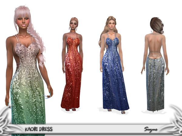 Sims 4 Kaori Dress by Suzue at TSR