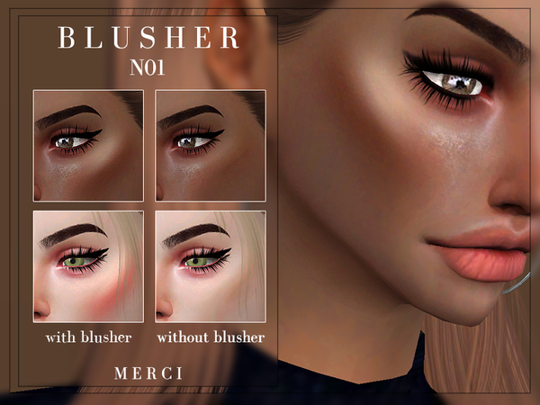 Sims 4 Blusher N01 by Merci at TSR