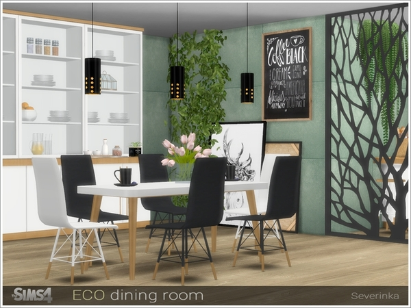 ECO dining room by Severinka at TSR image 11215 Sims 4 Updates