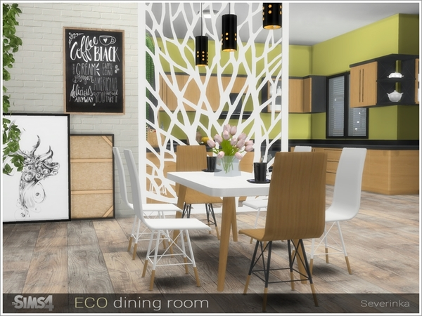 ECO dining room by Severinka at TSR image 11315 Sims 4 Updates