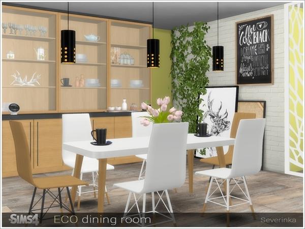 Sims 4 ECO dining room by Severinka at TSR