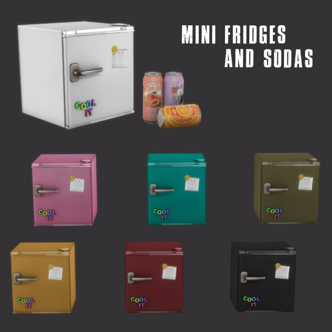 Mini Fridges (P) At Leo Sims » Sims 4 Updates
