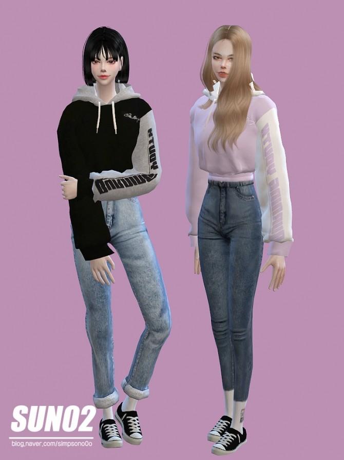 Sims 4 Crop hoodie F at SUN02
