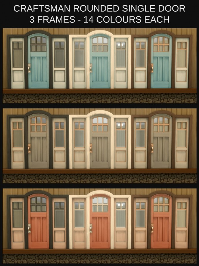 The Greatest Craftsman Rounded Single Door Recolours by Simmiller at Mod The Sims image 1163 670x892 Sims 4 Updates