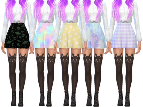 15 Super Snazzy Skater Skirts by Wicked Kittie at TSR image 1169 Sims 4 Updates