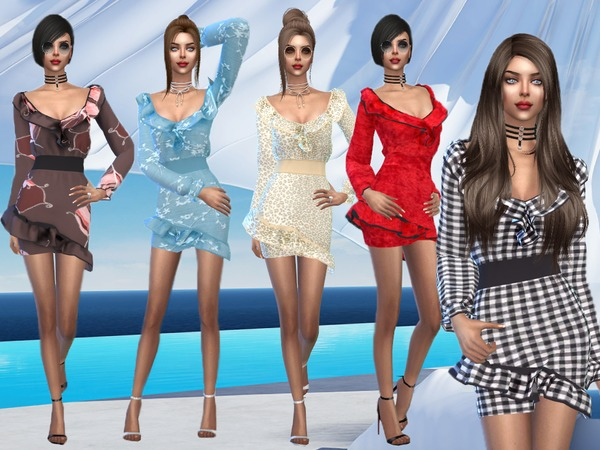 Sims 4 Annabel Dress by Sims House at TSR