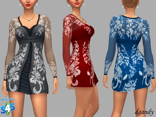 Sims 4 Denise dress by dgandy at TSR