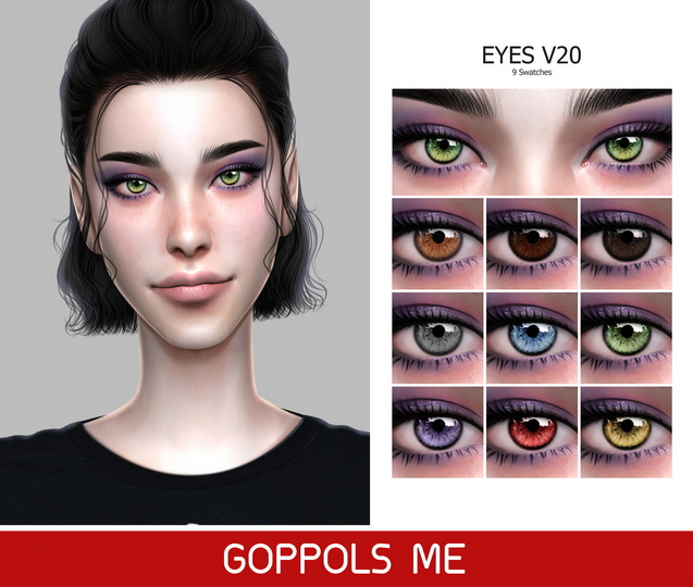 Sims 4 GPME Eyes V20 at GOPPOLS Me