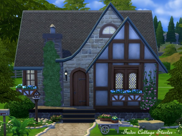 Tudor cottage starter no cc by flubs at TSR image 11911 Sims 4 Updates