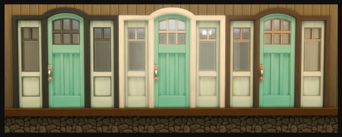 The Greatest Craftsman Rounded Single Door Recolours by Simmiller at Mod The Sims image 1193 670x268 Sims 4 Updates
