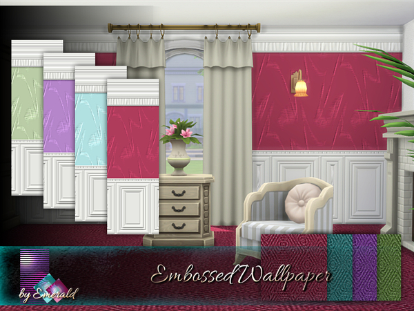 Sims 4 Embossed Wallpaper by emerald at TSR