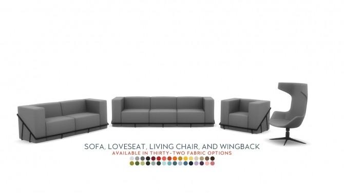 Sims 4 Yanako Modern Seating Set of Four at Simsational Designs