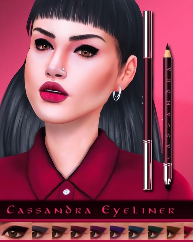 Sims 4 Cassandra Eyeliner at Katverse