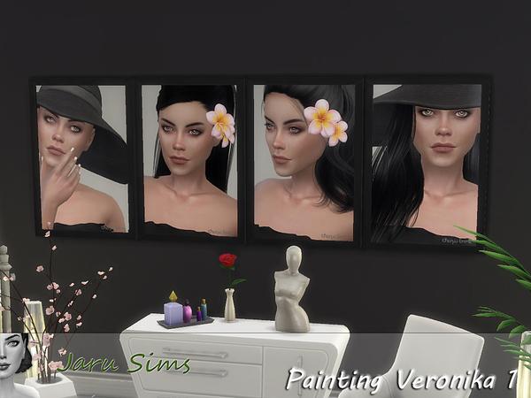 Sims 4 Painting Veronika 1 by Jaru Sims at TSR