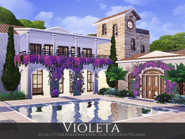Sims 4 Violeta mediterranean villa by Rirann at TSR