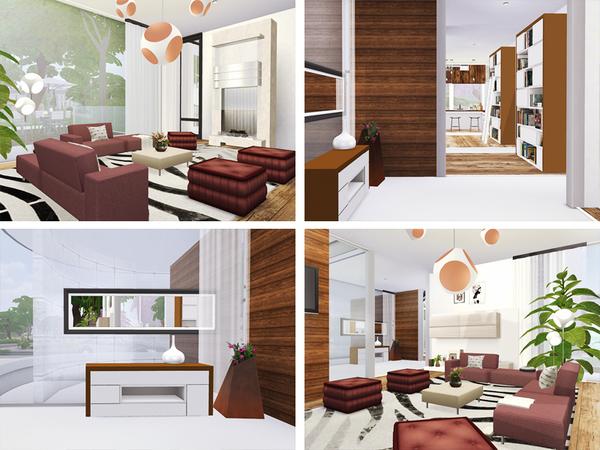 Sims 4 Dario modern home by Rirann at TSR