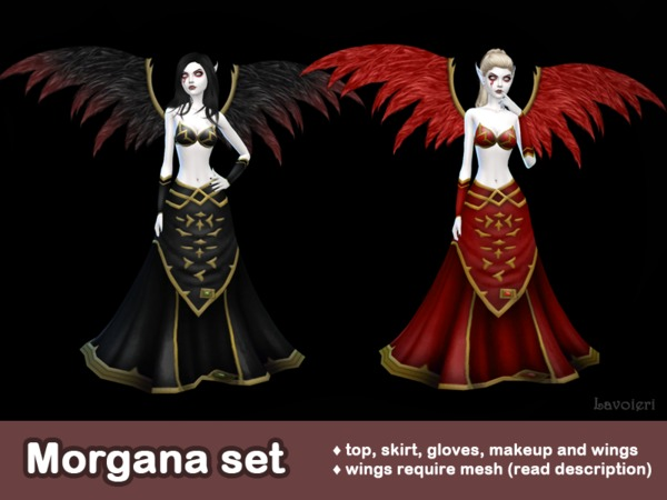 Sims 4 Morgana Set by Lavoieri at TSR