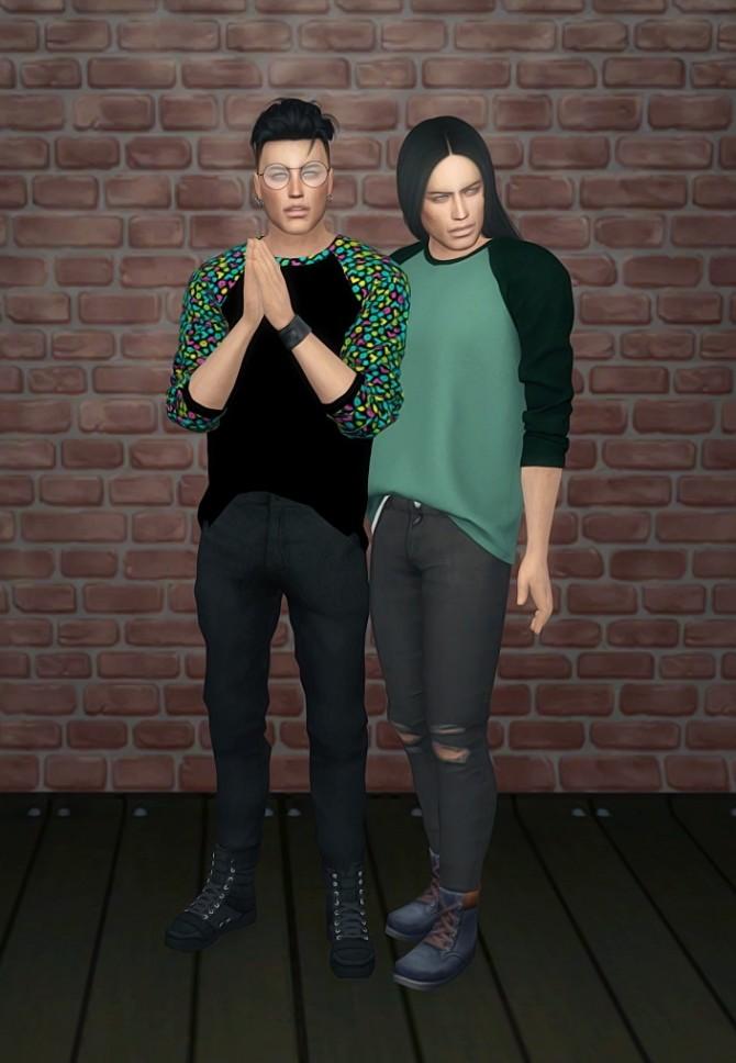 Sims 4 Raglan Shirt recolors at SkyFallSims Creation´s