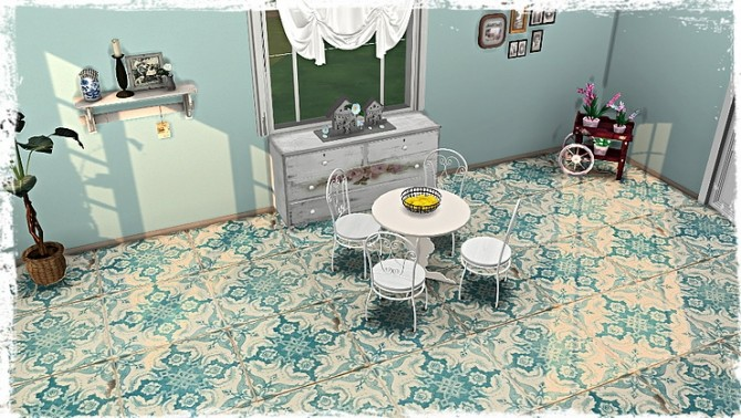 Old Ornate Floor Tile Collection by TaTschu at Blooming Rosy image 1248 670x378 Sims 4 Updates