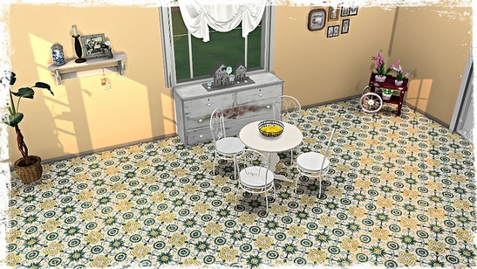 Old Ornate Floor Tile Collection by TaTschu at Blooming Rosy image 1258 670x378 Sims 4 Updates
